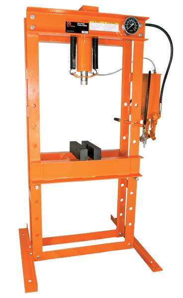 StrongArm 135 - 35 Ton Air/Hydraulic Shop Press - Heavy Duty