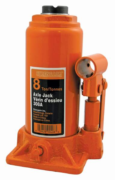 StrongArm 308A - 8 Ton Bottle Jack - Heavy Duty
