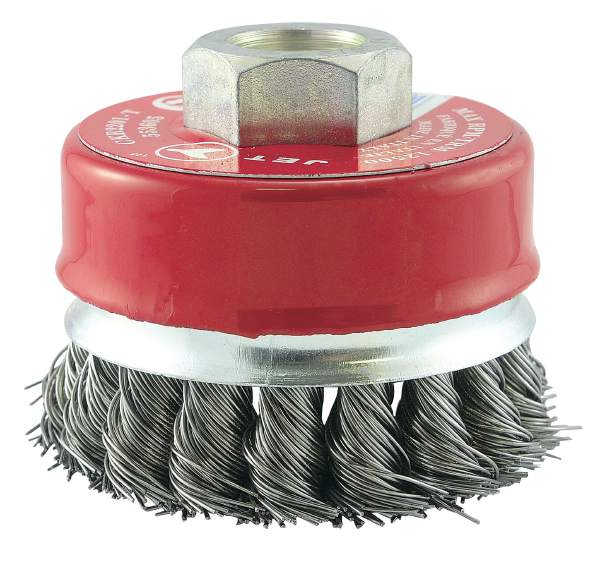 "JET CKB2201T - 2-3/4"" X 5/8-11 NC Knot Banded Cup Brush"