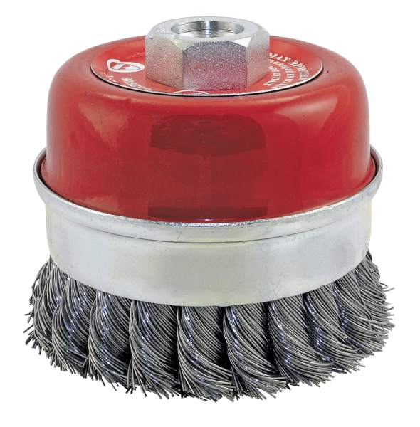 "JET CKB3201T - 3-1/2"" X 5/8-11 NC Knot Banded Cup Brush"