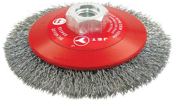 "JET BC615T - 6"" X 5/8-11NC Crimped Conical (Bevel) Brush"
