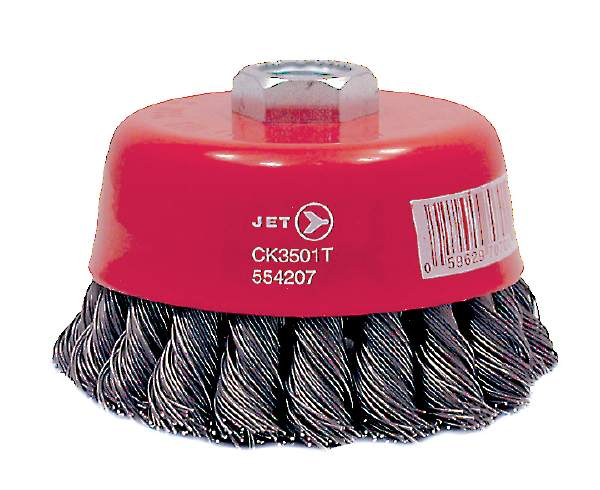 "JET CK3501-T - 3-1/2"" X 5/8-11 NC Premium Knot Twisted Cup Brush"