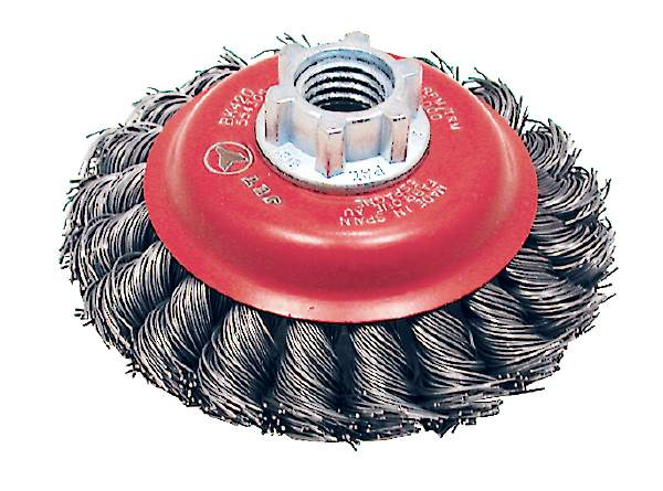 "JET BK420T - 4"" X 5/8-11 NC Knot Twisted Conical Brush"