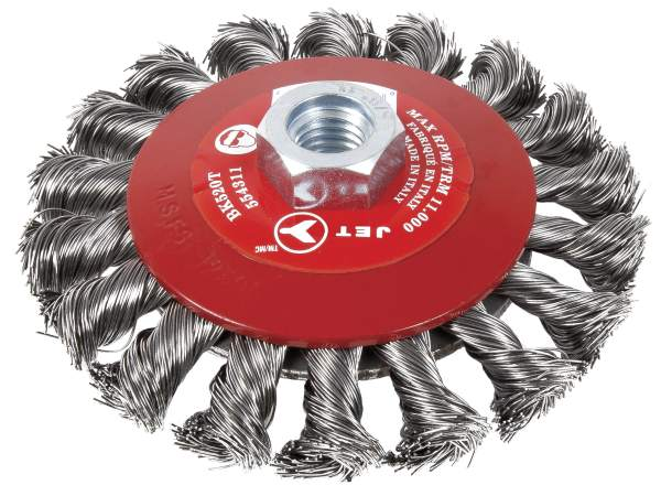 "JET BK520T - 5"" X 5/8""-11NC Knot Twisted Conical (Bevel) Brush"
