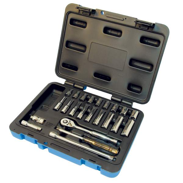 "JET SW1424-6 - 24 PC 1/4"" DR S.A.E. Socket Set - 6 Pt."