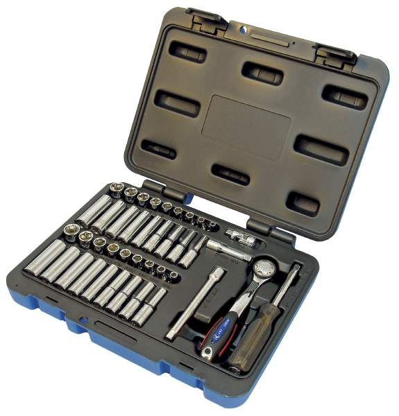 "JET SW1442C-6 - 42 PC 1/4"" DR S.A.E./Metric Socket Set - 6 Pt."