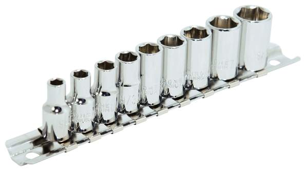 "JET SS1409-6 - 9 PC 1/4"" DR S.A.E Socket Set - 6 Pt."