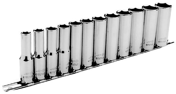 "JET SS3812DM-6 - 12 PC 3/8"" DR Deep Metric Socket Set - 6 Pt."