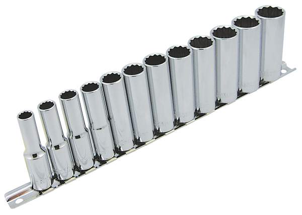 "JET SS1212DM-12 - 12 PC 3/8"" DR Deep Metric Socket Set - 12 Pt."