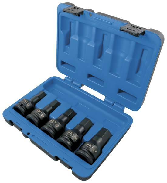 "JET PHB3405M - 5 PC 3/4"" DR Metric Impact Hex Bit Set"