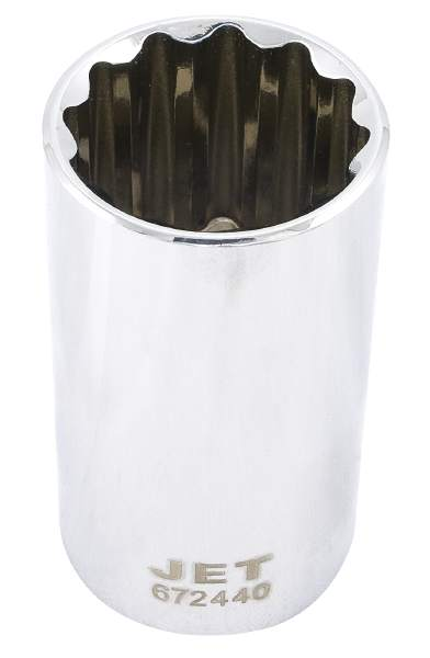 "JET 1/2"" Drive X 5/8"" Deep Chrome Socket - 12 Point"
