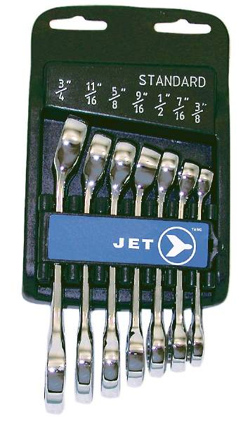 JET SCWS-7S - 7 PC SAE Stubby Combo Wrench Set