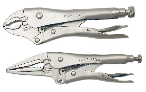 "JET J5WR - 5"" Curved Jaw Locking Pliers with Cutter"