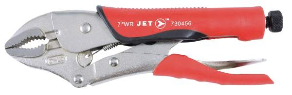 "JET J7WRG - 7"" Curved Jaw Locking Pliers w/Cutter Cushion Grip"