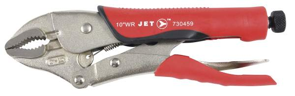 "JET J10WRG - 10"" Curved Jaw Locking Pliers w/Cutter Cushion Grip"