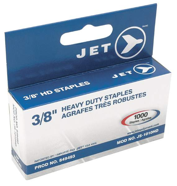 "JET JS-1010HD - 3/8"" Staples (1000 Pcs) - Heavy Duty"