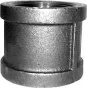"1/8"" NPT Coupling - Mall. Iron Pipe Fitting – Black"