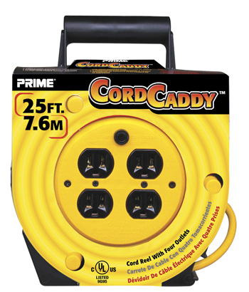 PRIME® Cord Caddy 4 Outlet Reel
