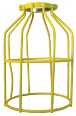 Yellow Dipped Metal Work Light Replacement Cages