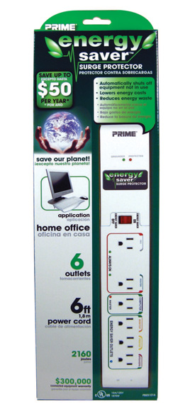6 - Outlet 2160J Energy Saver™ w/ 6ft. Cord