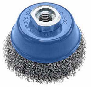 "J. Walter 3"" X M14 X 2.0 Stainless Wire Cup Brush - Knot-Twisted"