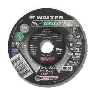 "J. Walter 4-1/2"" GR 36 FLEXCut? Mill Scale Flexible Grinding & S"